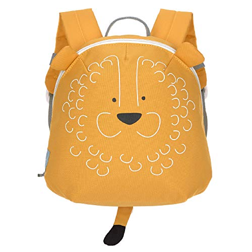 LÄSSIG Kinderrucksack für Kita Kindertasche Krippenrucksack mit Brustgurt/Tiny Backpack, About Friends Lion, 24 cm, 5,05 l