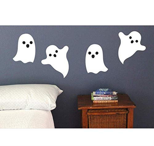 Happy Halloween Wandaufkleber Weiß Ghost House Removable Wallpaper Art Home Decor