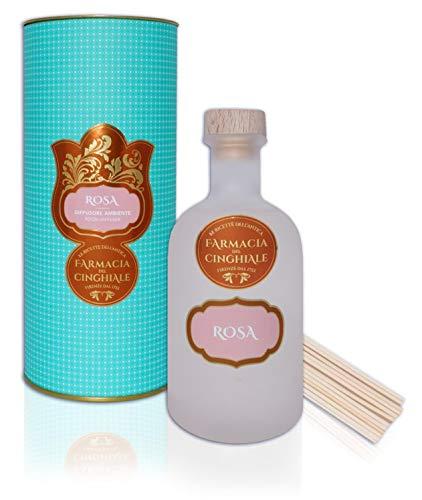 Difusor para Fragancia Ambiental Rosa en Sticks Fragancia Fresca y Floral de 250 ml