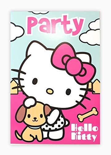 store 10 Einladungskarten Glückwunschkarten Kindergeburtstagskarten Hello Kitty Deko