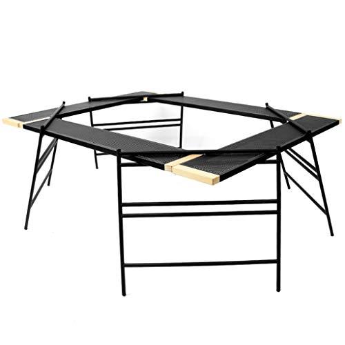 Hh001 Neue Outdoor-Grill-Tisch kann vernetzt Werden netzgeeignet Camping tragbare multifunktionale selbstfahrende tragbare Picknicktisch Quick Set-up Camping Ideal für Picknicks (Color : Black)