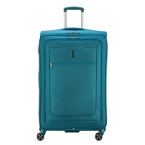 DELSEY Paris Hypergilde Softside Expandable Luggage with Spinner Wheels, Teal Blue