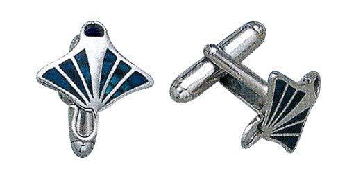 Divesilver Blue Manta Ray Cufflinks