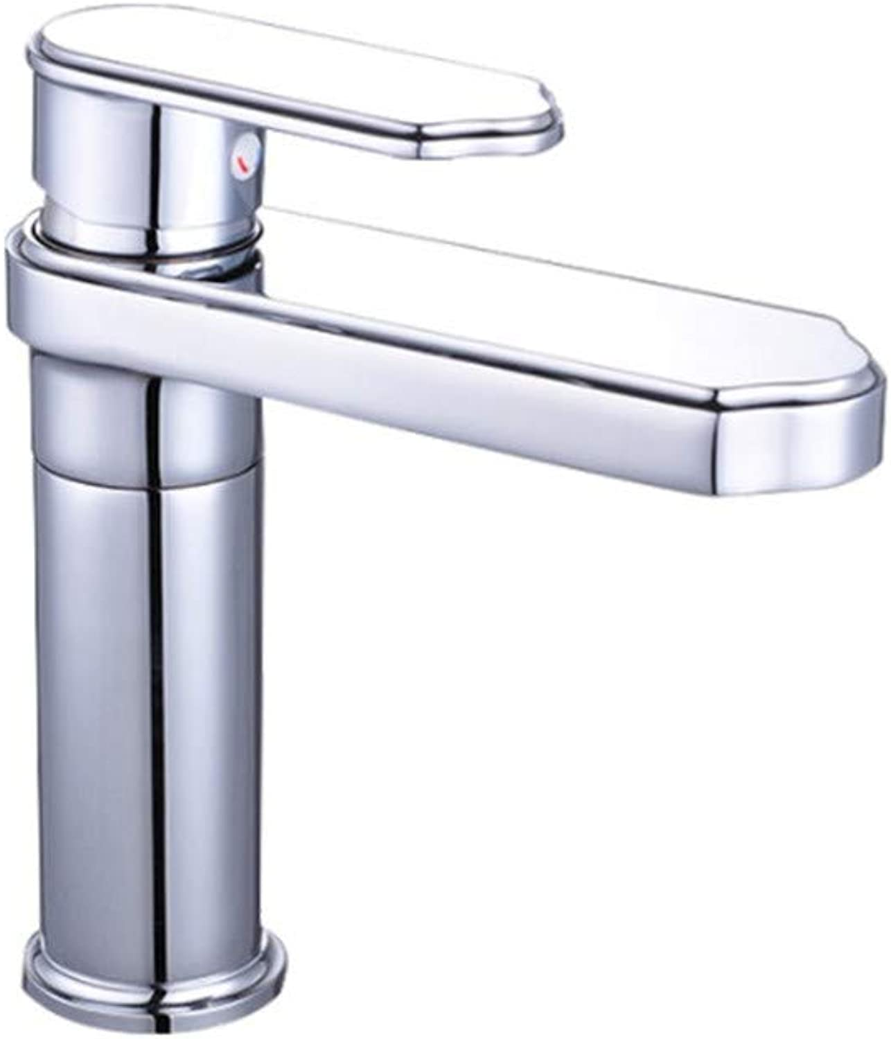 Basin Faucetface Basin Faucet Bathroom Washbasin Faucet Ceramic Disc Spool Single Hole Bathroom Basin Cold and Hot Faucet Bathroom Faucet Chrome Plating