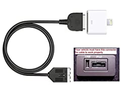iPod 4 30 pin adapter directly plug into your vehicle if there is interface port. Easy to connect your X 8 8 plus 7 7plus i-Pod i-Pad 4 to Land Rover / Jaguar music system. Listen to your favorite music, no loss of sound quality. Support continuous I...