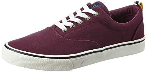 Amazon Brand - House & Shields Men's Maroon Textile Sneakers-8 UK (AZ-HS-041A)