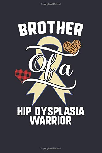 Brother Of A Hip Dysplasia Warrior: Hip Dysplasia Awareness Leopard Buffalo Plaid Family Gift