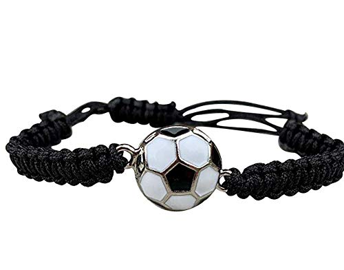 Pulsera de fútbol, joyería de fútbol, ajustable, unisex, pulseras de paracaídas de fútbol, regalos de fútbol
