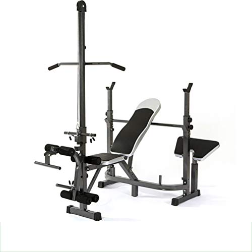 Weight Bench adjustable| Bench Press Set with Bar | Strength Training Benches for Home | Exercise Abdominal Muscles Biceps Abdominal Muscles Back Muscle Pectoral Muscle Biceps Triceps (Bearing Weight: