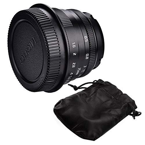 35mm cameralens, f1.6 - f16 Handmatige scherpstellens voor spiegelloze camera's Fotografie Accessoires Zwart, for Fujifilm Mount