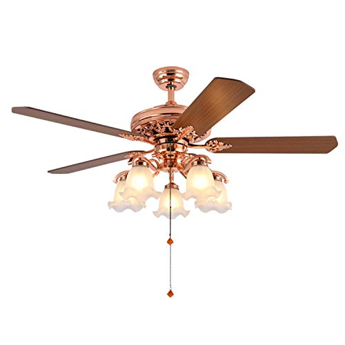 Moderno diseño de hélice, ventilador de techo LED, 5 hojas, mando a distancia con cuchilla reversible, silencioso, para restaurante/salón/dormitorio 1yess