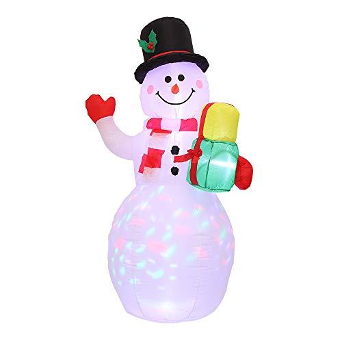 Tendlife Veilleuse gonflable de Santa de, lumière gonflable de décoration de bonhomme de neige Noël, décorations de fête de Noël