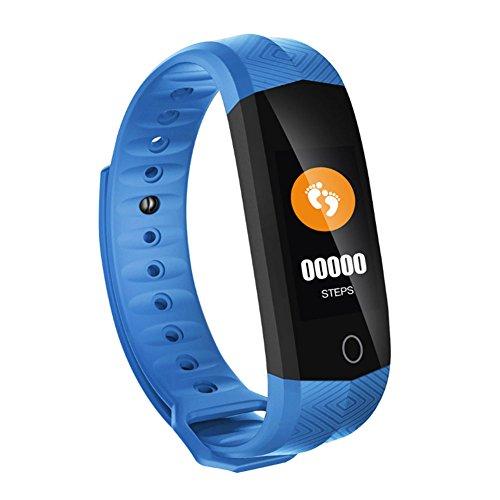 Espeedy Bluetooth Smart Fitness Armband Wasserdicht Uhrenarmband Schlaf Pulsmesser Schrittzähler Outdoor Sport Armband