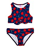 Kanu Surf Girls UPF 50+ Beach Sport Racer Bikini 2-Piece Swimsuit, Addie Navy, 10