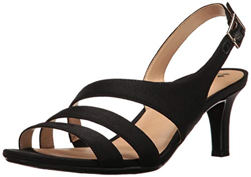 Naturalizer womens Taimi Heeled Sandal, Black Leather, 7.5 US