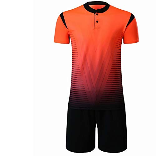 YSPORT Fußball Torwart Uniform Kurzarm Kurze Hose Outfit Jerseys Torwartanzug (Color : Orange, Size : M)