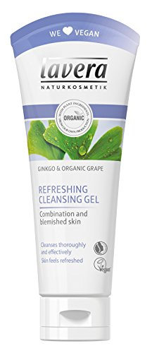 Lavera Lavera ginkgo and organic grape refreshing cleansing gel - combination and blemished skin, 3.3oz, 3.3 Ounce