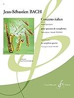バッハ : イタリア協奏曲 (サクソフォン四重奏) ビヨドー出版