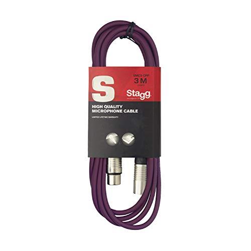 Stagg 3m hochwertigen XLR-auf XLR-Stecker Mikrofon Kabel violett