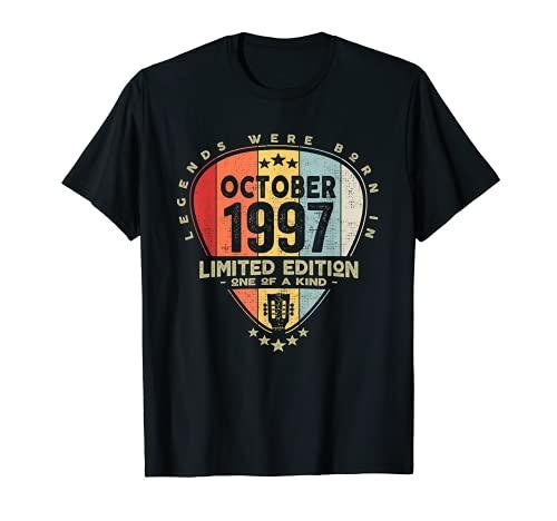 Guitarra Pick - Leyendas nacieron en octubre de 1997 Guitarra Camiseta