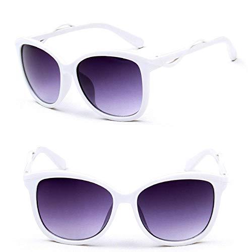 Gafas de sol Mujer Gafas de sol transparentes clásicas Conducción al aire libre Vintage Uv400 @ Blanco