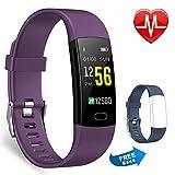 Juboury Fitness-Tracker, Aktivitätsuhr, Herzfrequenzmesser, wasserdicht, Schrittzähler,...