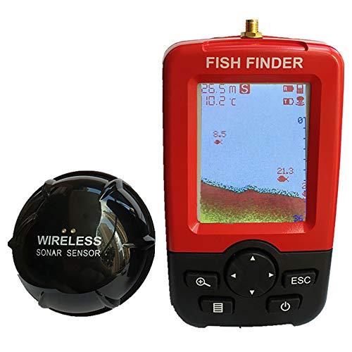 BYBYC Profundidad Inteligente portátil Buscador de los Pescados con 100M Wireless Sensor del Sonar Sonda LCD Sonda de Pesca de Agua Salada Lago Mar
