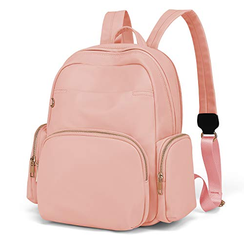 Wind Took Mini Backpack Women's Daypack School Backpack Nylon Fashion Small for School Office Everyday 30 x 15 x 33 cm Pink