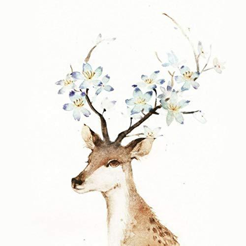 Lazodaer - Kit de pintura de diamante 5D por número, para decoración de pared del hogar, regalo de flores azules, 30 x 30 cm