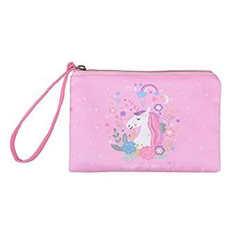 Rantanto Cute Canvas Cash Coin Purse Make Up Bag Cellphone Bag With Handle  BG0010 Unicorn