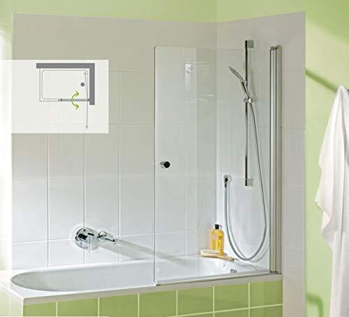 Badewannenaufsatz nach Maß bis 105 cm Breite, 1-tlg, 6 mm ESG, Silbermatt, 5005230