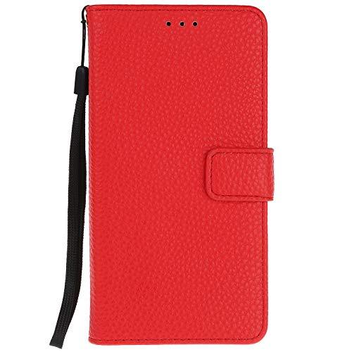 ocketcase® Kompatibel mit Oukitel U7 Plus Hülle, PU Leder Flip Case Wallet Stylish mit Standfunktion Schutzhülle (Litschi-Korn 8)
