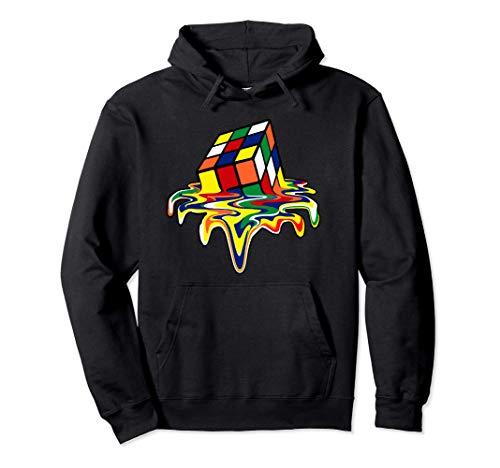 Rubic Rubix Rubik cubo mágico colores impresionante gráfico Sudadera con Capucha
