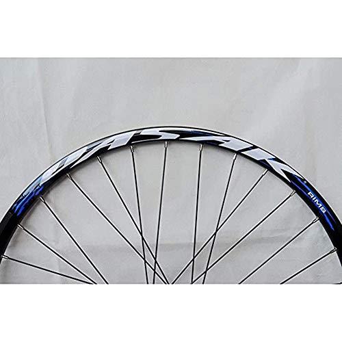 ZCBDNB Juego de Ruedas de Bicicleta de montaña, Ruedas de Ruedas de Bicicletas con Brillo de Disco de retención rápida de liberación de Casete con Volante Blue Tambor,29'