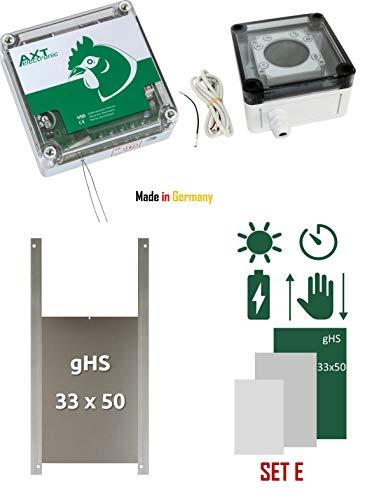 AXT-Electronic Set E - Pförtner VSD mit Batterien, Digitale Zeitschaltuhr, manuelle Steuerung, Außenmontage, Gänset