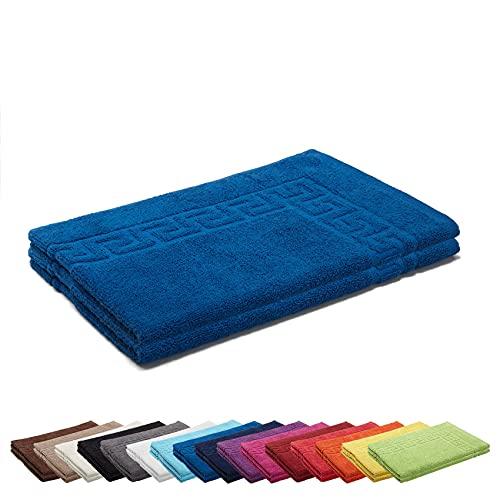 AR Line 2er Packung Duschvorleger Badvorleger Badematte 50 x 70 cm 100% Baumwolle 700 g/m², Farbe: Royal