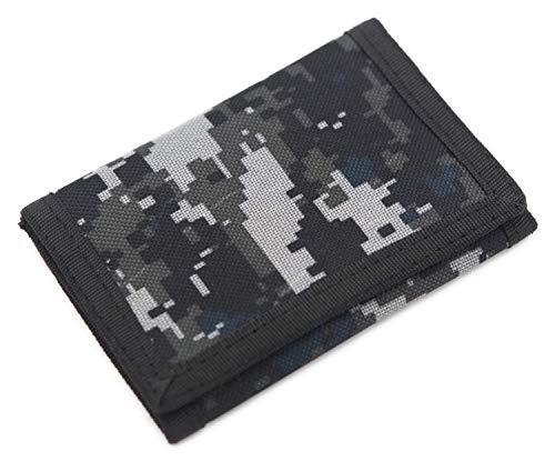 Schmales Portmonee / Geldbörse für Kinder, RFID-Schutz, dreifach gefaltet, Camouflage, Leinen, Outdoor / Sport Xacamouflage S