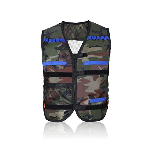 Yosoo Childrens Enfants Elite Tactical Vest pour Nerf Gun N-Strike Elite Series (Camouflage)