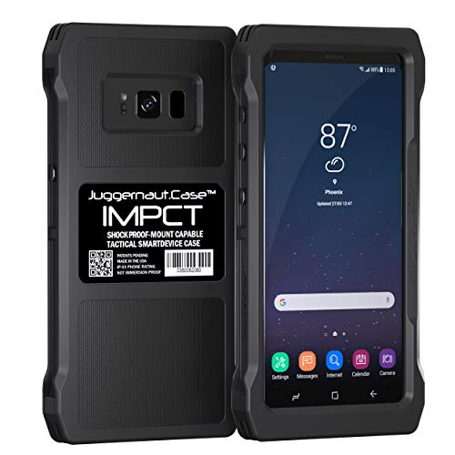 Juggernaut.Case IMPCT for Samsung Galaxy S8 - Military Grade, Tactical Smartphone Phone Case, Made in USA - Flat Black