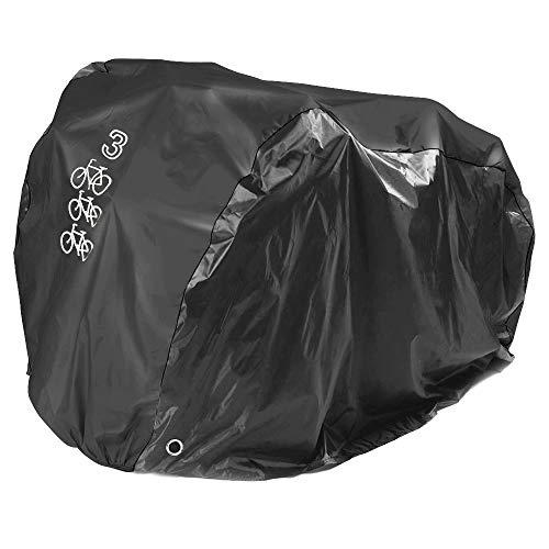 NEVERLAND Fahrradabdeckung Fahrradgarage Fahrradschutzhülle Schutz Cover Staub UV-Schutz Schwarz für 3 Fahrräder 205x108x115cm