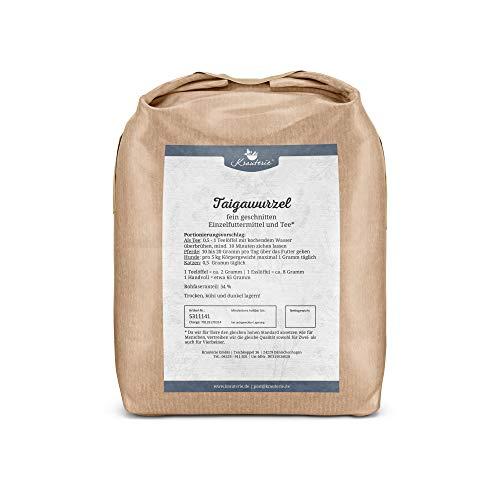Krauterie Taigawurzel feingeschnitten in sehr hochwertiger Qualität, frei von jeglichen Zusätzen, als Tee oder für Pferde, Hunde und Katzen (Eleutherococcus senticosus) – 1000 g