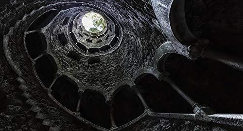 FDHGF 1000 Rompecabezas para Adultos y niños,Rompecabezas de Madera Colorido,Arquitectura Antigua en Cueva de Piedra,Un Juego Regalo Regalo Educativo descompresión Juguete.