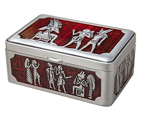 X&Z-XAOY Mini Caja De Joyería Egipcia Vintage Joyería Joyería Caja De Tesoro Creativo Joyería Organizador Flannel Caja De Regalo para El Día De La Madre Día De San Valentín
