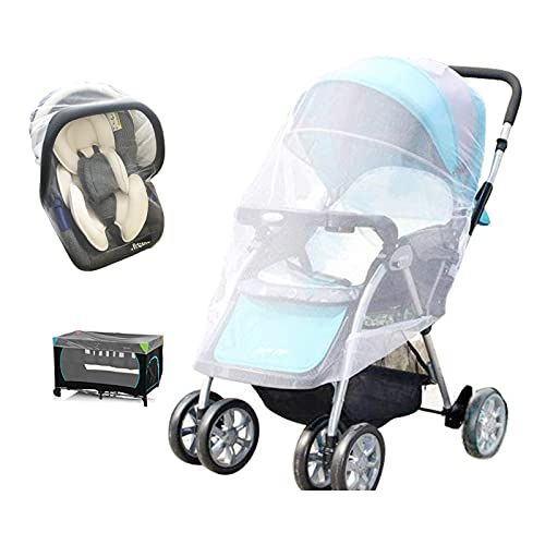 Mosquito Net for Stroller - V-FYee Baby Mosquito Net - Bug Netting for Strollers, Pack N Plays, Car Seats, Cradles, Mini Crib (White)