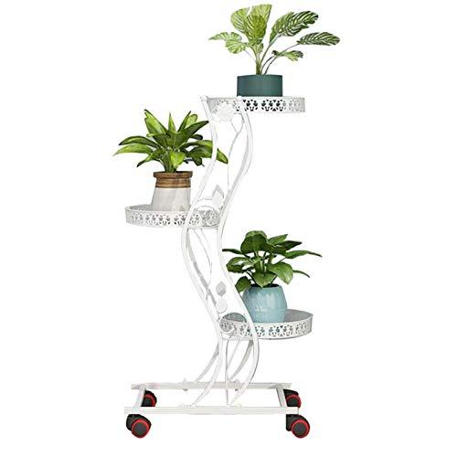 Soporte para Plantas para Interiores Soportes para Plantas De 5 Niveles Utilizados para La Puerta De La Terraza del Jardín del Pasillo Al Aire Libre Interior,47x27x85cm Blanc