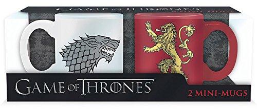 ABYstyle - GAME OF THRONES - Set mit 2 Mini-Tasse - 110 ml - Stark & Lannister