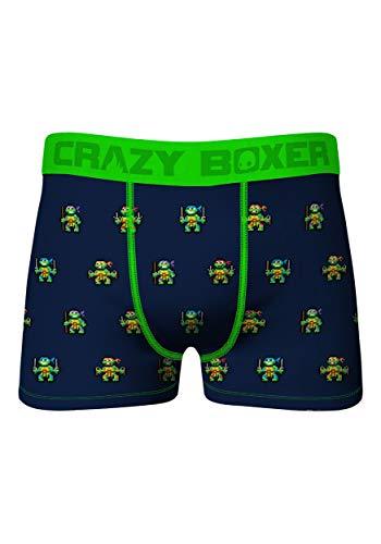 Crazy Boxer Men's 8bit TMNT Boxer Brief Large