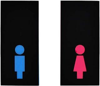 Gents & Ladies Set de deux enseignes de salle de bain - Signes de toilettes modernes - Signes de WC drôles - Hommes/femmes...