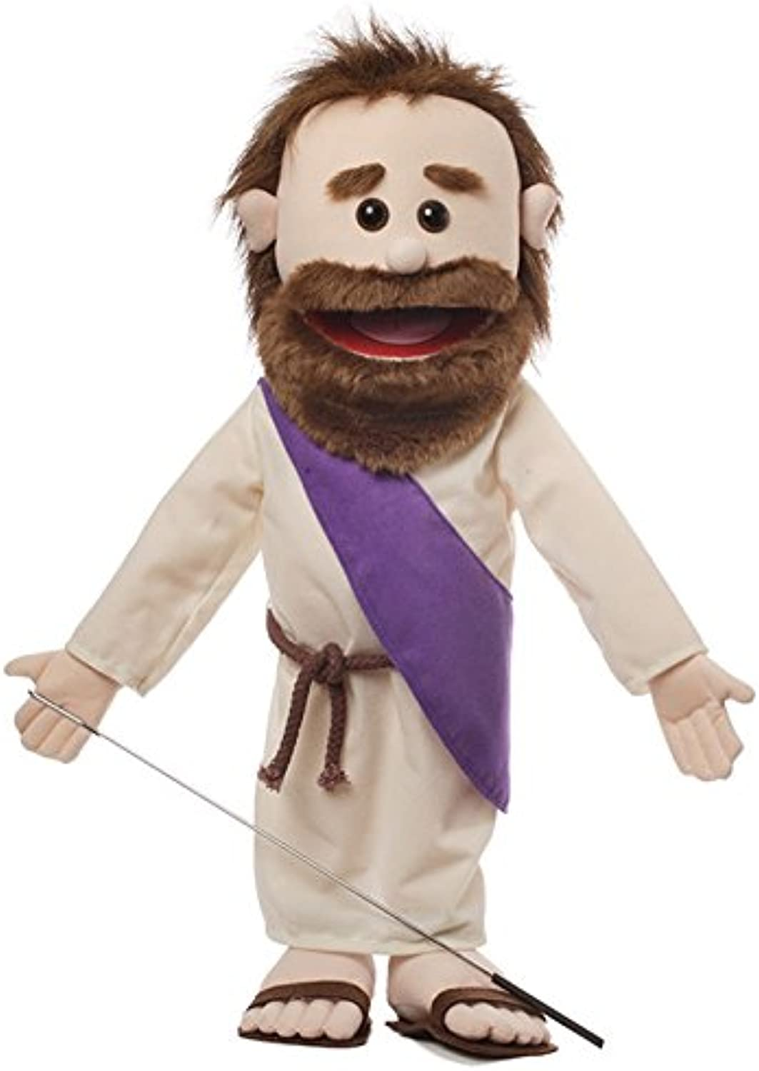 25  Jesus w  Rope Belt, Full Body Bible Character, Christian Ministry Puppet