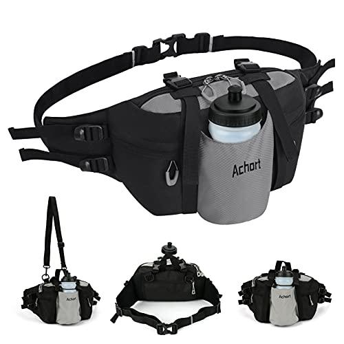 Mochila lumbar para senderismo para hombres y mujeres, bolsa de cintura de pesca Intsun con soporte para botella de agua, cinturón ajustable y correa para el hombro para correr,...